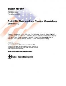 ALEGRA - Sandia National Laboratories