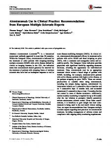 Alemtuzumab Use in Clinical Practice - Springer Link