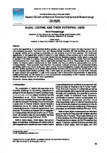 algal lectins and their potential uses