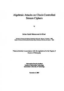 Algebraic Attacks on Clock-Controlled Stream Ciphers - Core