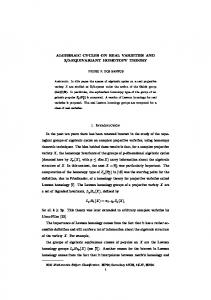 ALGEBRAIC CYCLES ON REAL VARIETIES AND Z/2-EQUIVARIANT ...