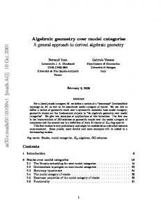 Algebraic geometry over model categories A general approach to