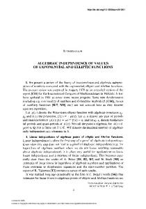 algebraic independence of values of exponential and elliptic functions