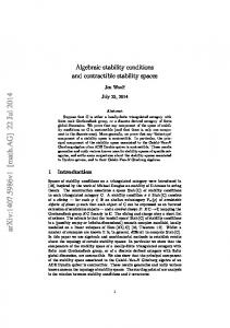 Algebraic stability conditions and contractible stability spaces