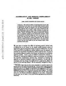 Algebraicity and implicit definability in set theory