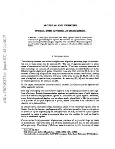 Algebras and varieties