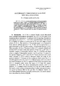 algebras of unbounded scalar-type spectral operators - Project Euclid
