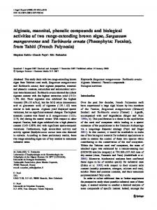 Alginate, mannitol, phenolic compounds and biological activities of ...