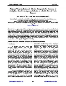 Alginate/ Polyvinyl Alcohol - Journal of American Science