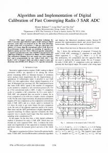 Algorithm and implementation of digital calibration of fast converging ...