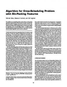 Algorithm for Crew-Scheduling Problem with Bin-Packing Features
