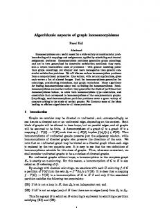 Algorithmic aspects of graph homomorphisms