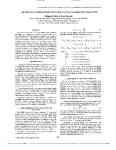 Algorithms for Calculation of Digital Surface Models from ... - IEEE Xplore