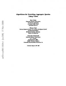 Algorithms for Rewriting Aggregate Queries Using Views