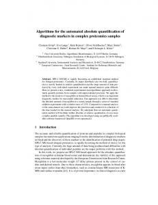 Algorithms for the automated absolute quantification of ... - CiteSeerX