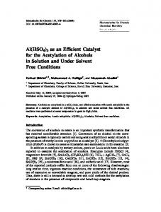 Al(HSO4)3 as an Efficient Catalyst for the Acetylation of ... - Springer Link