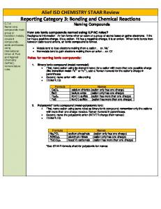 Alief ISD CHEMISTRY STAAR Review Reporting Category 3 ...