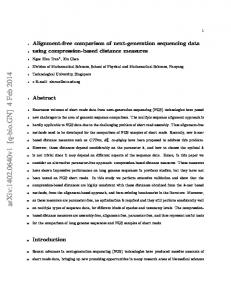 Alignment-free comparison of next-generation sequencing data using ...