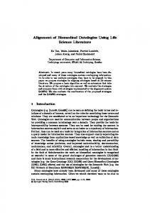 Alignment of Biomedical Ontologies Using Life Science Literature