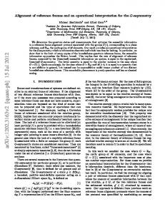 Alignment of reference frames and an operational interpretation for the ...