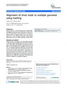 Alignment of short reads to multiple genomes using ... - Springer Link