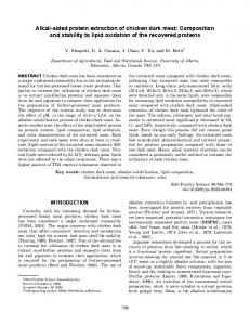 Alkali-aided protein extraction of chicken dark meat: Composition and ...