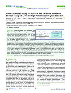 Alkali Salt-Doped Highly Transparent and ... - ACS Publications