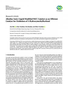 Alkaline Ionic Liquid Modified Pd/C Catalyst as an Efficient Catalyst for ...