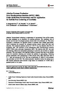 Alkaline Protease Production from Brevibacterium ...