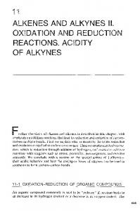 ALKENES AND ALKYNES ON AND REDUC NS. AC OF ALKYNES