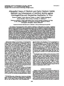 Alkoxyalkyl Esters of Cidofovir and Cyclic Cidofovir Exhibit Multiple ...
