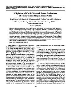 Alkylation of Cyclic Mannich Bases, Derivatives of ... - Springer Link