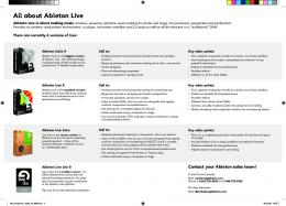 All about Ableton Live