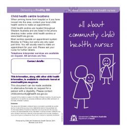 All about community child health nurses (PDF) - Department of Health