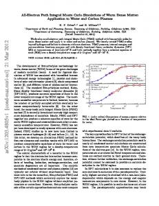 All-Electron Path Integral Monte Carlo Simulations of Warm Dense ...