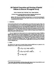 All-Optical Generation and Steering of Spatial Solitons in Discrete ...