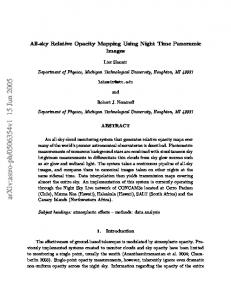 All-sky Relative Opacity Mapping Using Night Time Panoramic Images