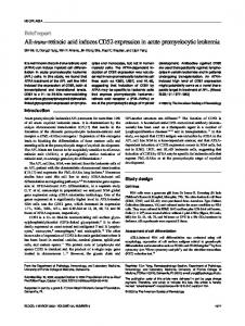 All-trans-retinoic acid induces CD52 expression in acute ...