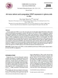 All-trans retinoic acid upregulates VEGF expression ... - BioMedSearch