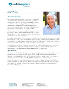 Allan Pease - Celebrity Speakers