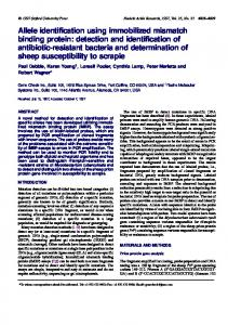 Allele identification using immobilized mismatch binding protein ...