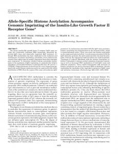 Allele-Specific Histone Acetylation Accompanies Genomic Imprinting ...