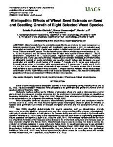 Allelopathic Effects of Wheat Seed Extracts on Seed and Seedling ...