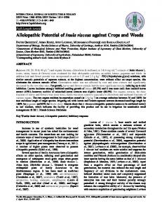 Allelopathic Potential of Inula viscosa against Crops and Weeds