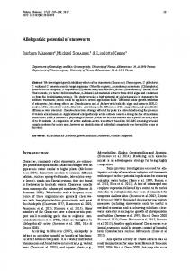 Allelopathic potential of stoneworts - Fottea