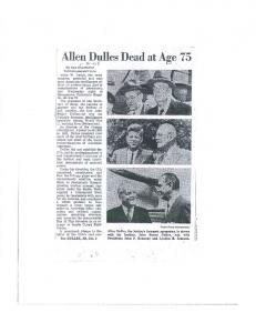 Allen Dulles Dead at Age 75