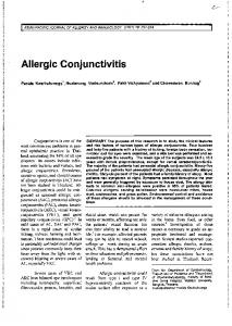 Allergic Conjunctivitis - Asian Pacific Journal of Allergy and Immunology
