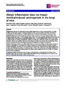 Allergic inflammation does not impact chemical-induced ...