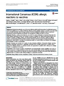allergic reactions to vaccines - Springer Link
