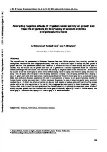 Alleviating negative effects of irrigation-water salinity on growth and ...